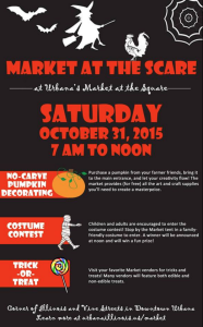 Market at the Scare@Urbana, Oct.31, 2015