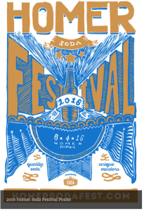 HOMER SODA FESTIVAL POSTER from the wesite