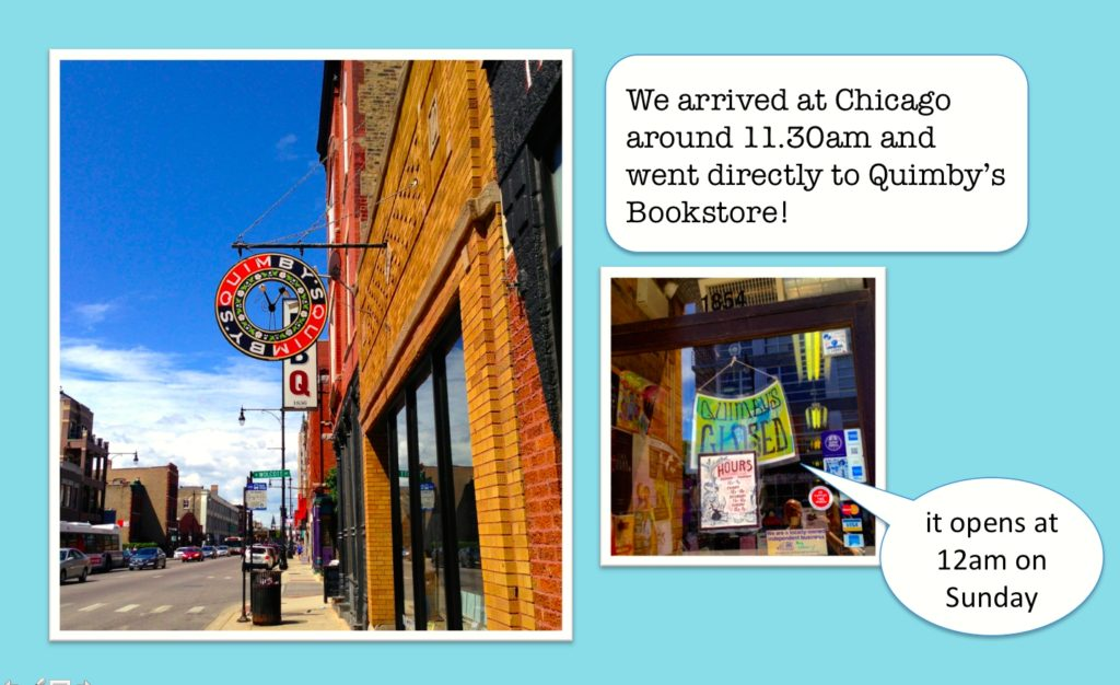まっすぐにQuimby's Bookstoreへ@Chicago, August7,2016