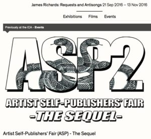 Artis Self-Publishiers' Fair@ICA, 21 Sept.2016