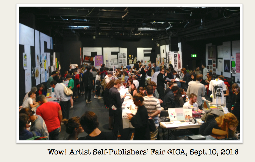Artist Self-Publishers' Fair @ ICA, Sept.10, 2016
