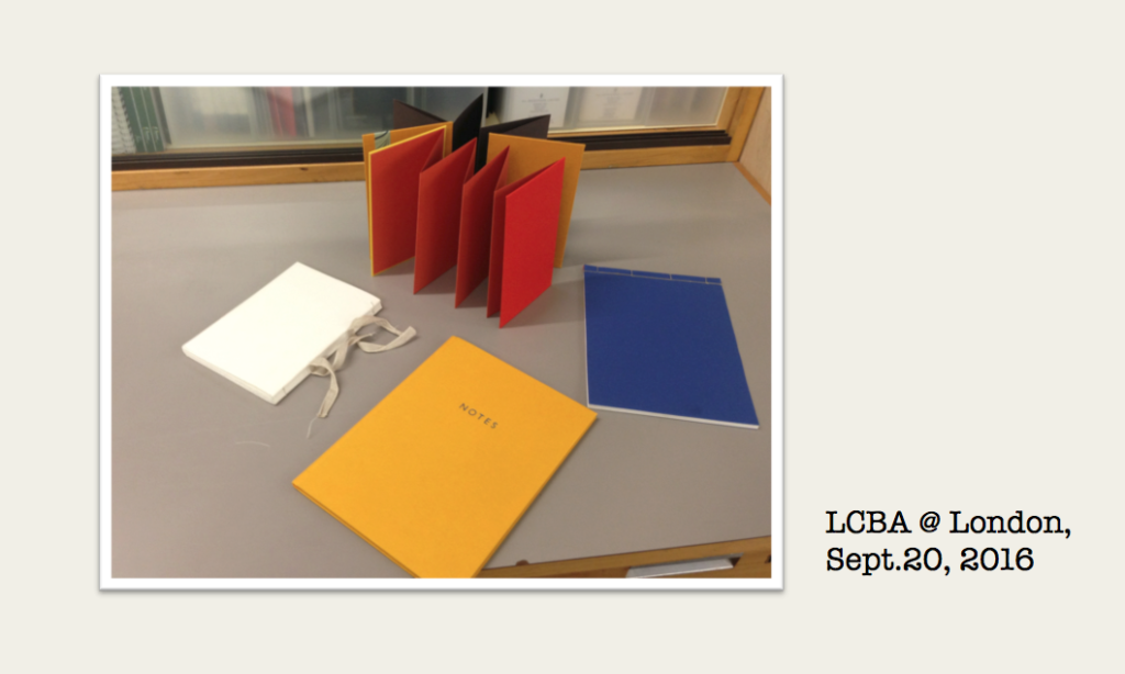 London Centre for Book Arts, Sept.20, 2016