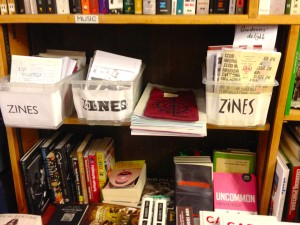 ZineがBooksやPeriodicalsとともに並ぶ@Housman Bookshop, London, Sept.2014