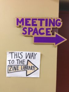 Meeting Space/Zine Library@UCIMC, Urbana, August 2016