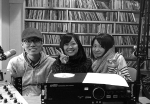 Alex-san, Moe-san, Yuka-san@WRFU Studio, October24, 2014