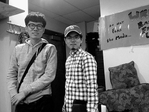 Alex-san&Ryuta-san@WRFU Studio, Urbana, Oct.10, 2014, by Tom-san