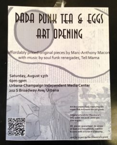 DADA PUNK TEA & EGG ART OPENING@UCIMC, 6-9pm, Aug.13, 2016