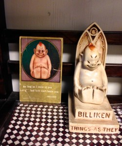 A Card postmarked 1909 and Billiken (Billiken Company, Chicago)@Kyoto, Jan.23, 2015