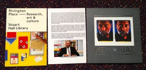 Stuart Hall Library pamphlets etc.@Rivington Place, Sept.11, 2015