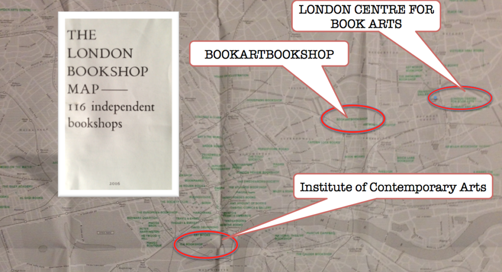The London Bookshop Map 2016